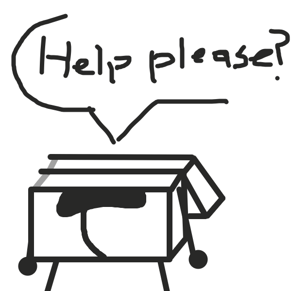 A book got sliced almost in half. Do you wanna fix them up? - Online Drawing Game Comic Strip Panel by The Green Flame