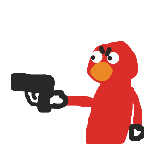it was actually elmo wearing gloves - Online Drawing Game Comic Strip Panel by Duncan