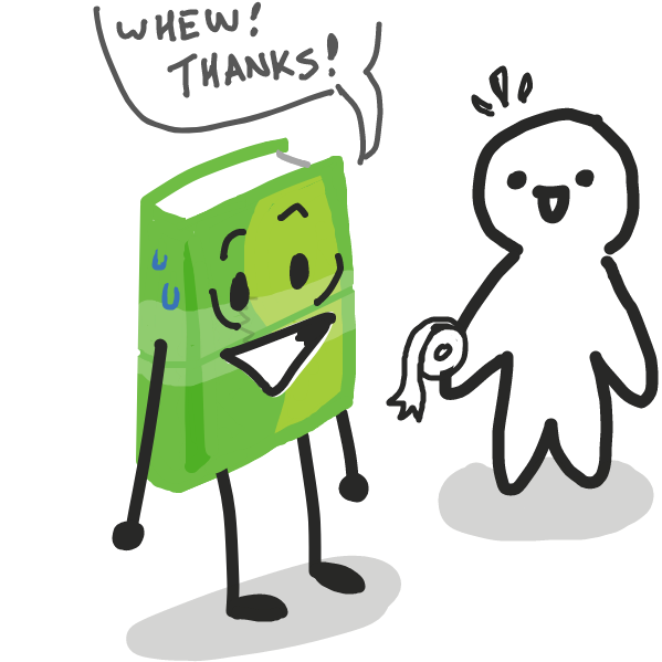 Yayy, tape ftw - Online Drawing Game Comic Strip Panel by DewyBob12