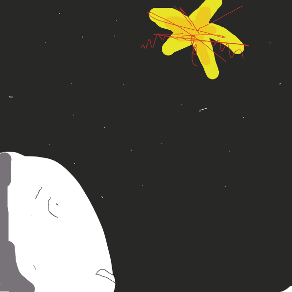 A supernova occurs in the night sky - Online Drawing Game Comic Strip Panel by Jenndar