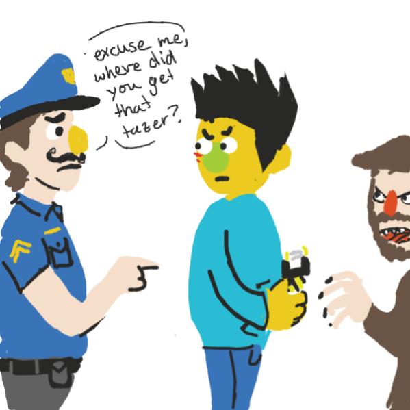 Police? - Online Drawing Game Comic Strip Panel