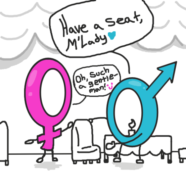 Gender roles in a nut shell XD - Online Drawing Game Comic Strip Panel by xavvypls