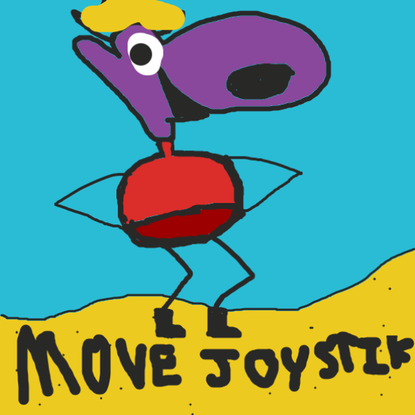 MOVE JOYSTIK TO MOVE U CHARAKATER - Online Drawing Game Comic Strip Panel by TheYellowMan
