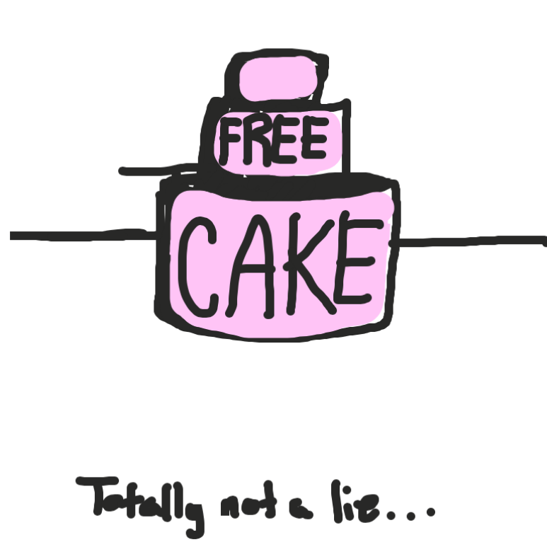 First panel in Cake drawn in our free online drawing game