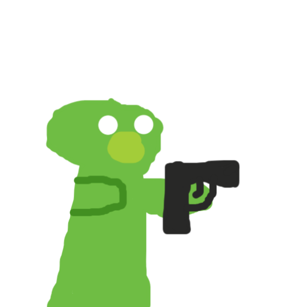elmo comes back as a zombie (he also found another gun) - Online Drawing Game Comic Strip Panel by Duncan