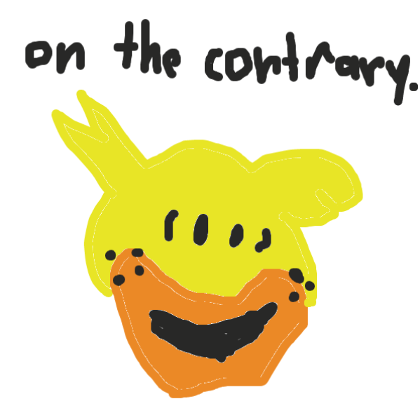 on the contrary - Online Drawing Game Comic Strip Panel by cherrybread
