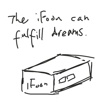 First panel in iFoon drawn in our free online drawing game