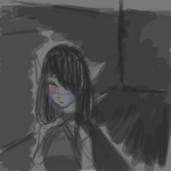First panel in Darkness drawn in our free online drawing game