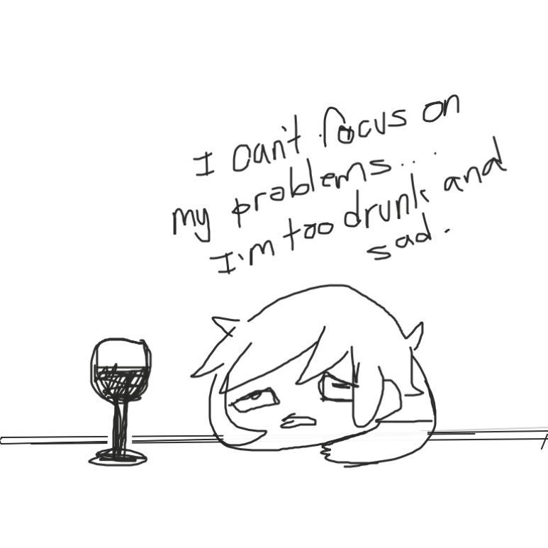 Liked webcomic Drunk and Sad