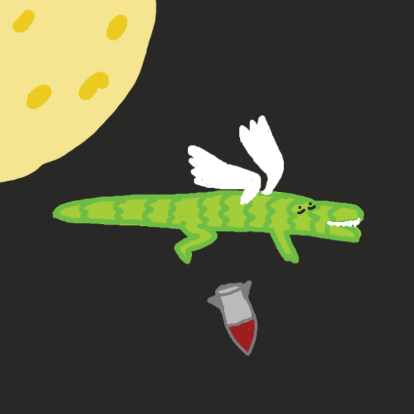 The sky alligator drops another bomb
