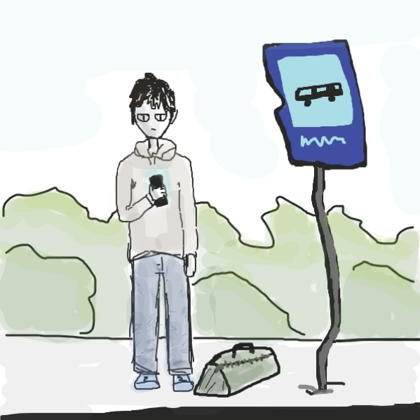 Liked webcomic Ordinary day at the bus stop
