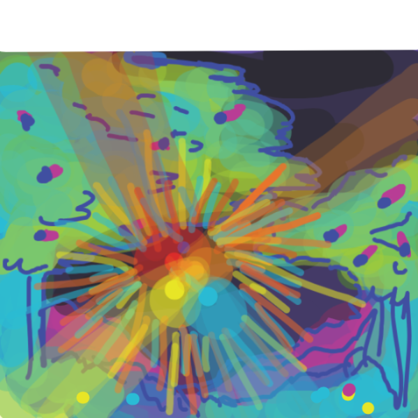 A mythical being starts to form from the light,what could it be? - Online Drawing Game Comic Strip Panel