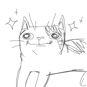 Drawing in Polite Cat by KatBOOO