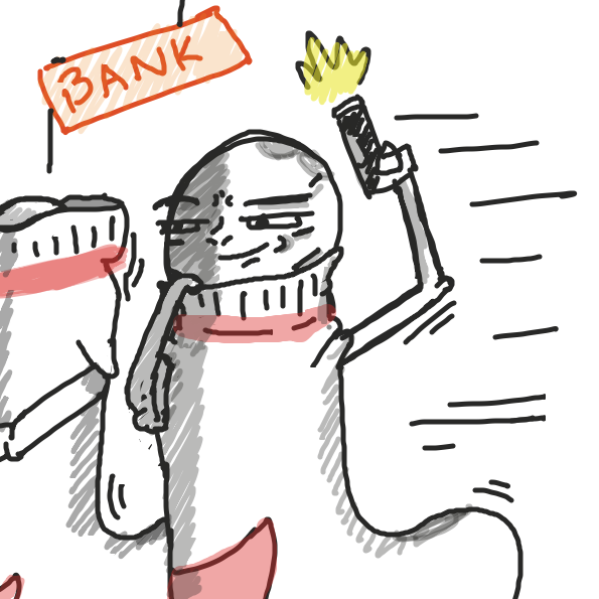 There is a robbery  - Online Drawing Game Comic Strip Panel