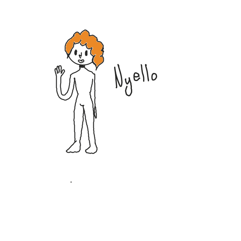 First panel in Nyello drawn in our free online drawing game