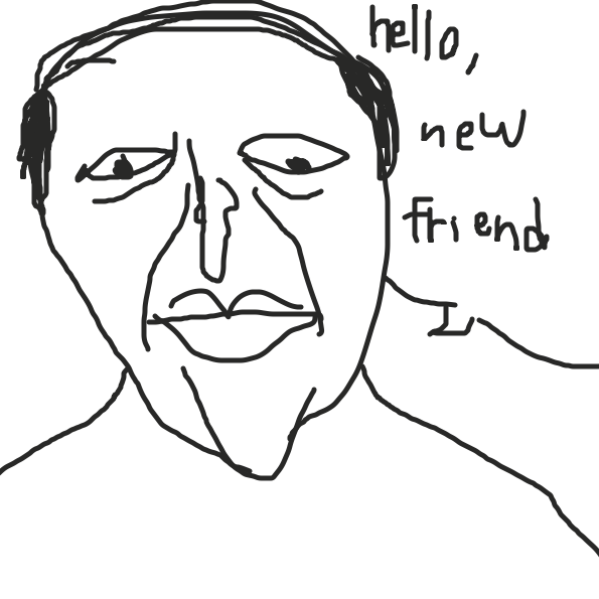 A friend - Online Drawing Game Comic Strip Panel by Uugh