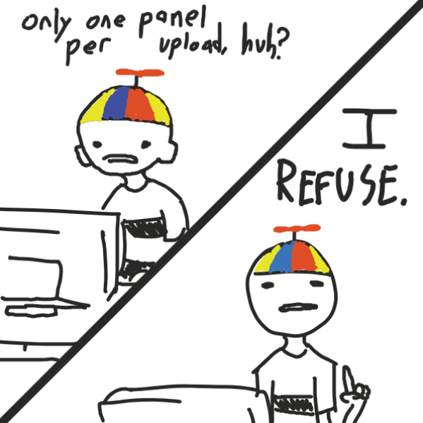 johnny boy rebels against the system - Online Drawing Game Comic Strip Panel