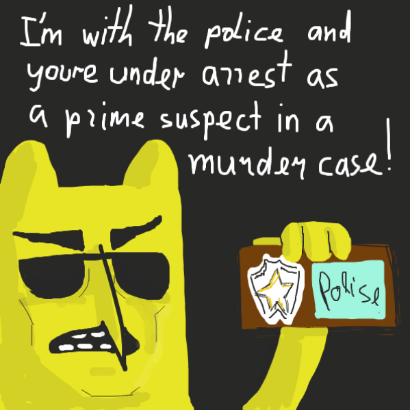 he was an undercover cop - Online Drawing Game Comic Strip Panel by Robro