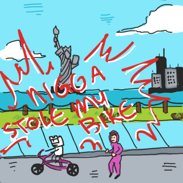Drawing in The ALL-NEW Striptogether Bicycle! by The Burned Man