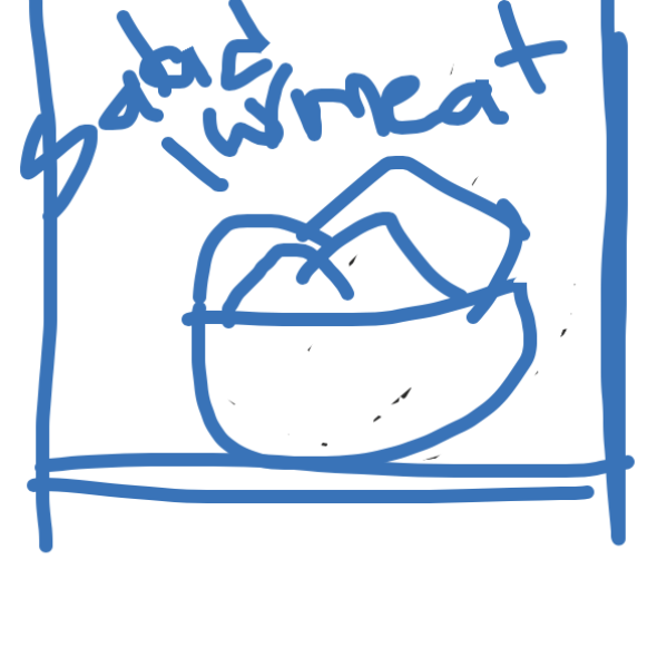 Drawing in FOOD FIGHT! by Purple Alien