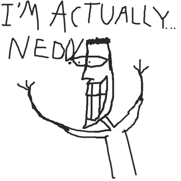 Stripdaddy is actually Nedd from Noodles and Nedd, One of the many secrets. - Online Drawing Game Comic Strip Panel by TheYellowMan