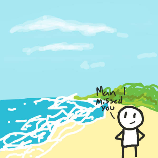 Drawing in I'm back, beaches by itsm