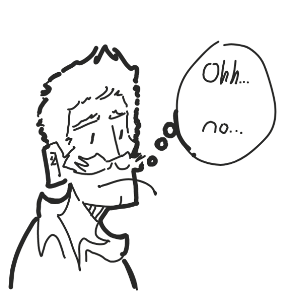 something bad... - Online Drawing Game Comic Strip Panel by eet