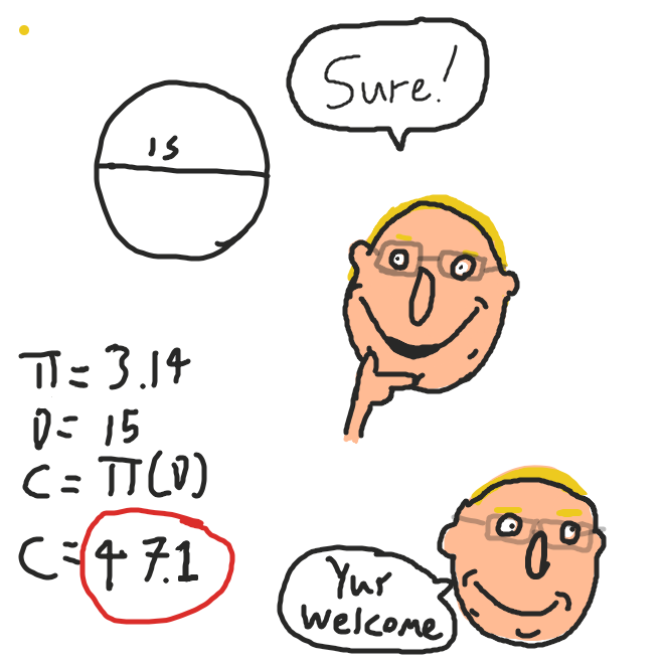 The answer is fourth seven and one tenth. (47.1) - Online Drawing Game Comic Strip Panel