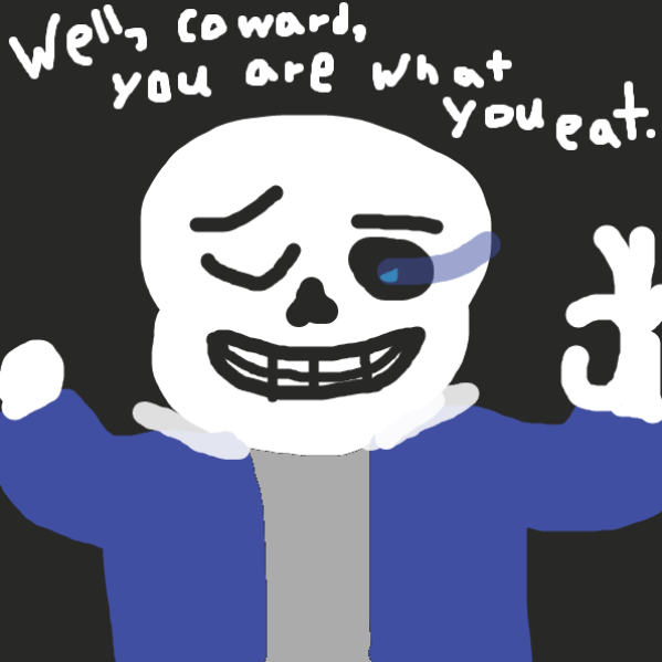 Drawing in thanos is destroyed by sans by Beepadoobop