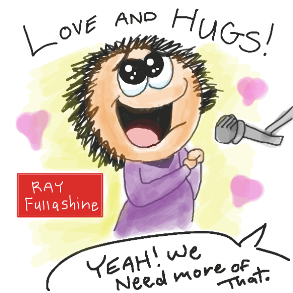 Asking for more love and hugs in the world. - Online Drawing Game Comic Strip Panel by Loco-L
