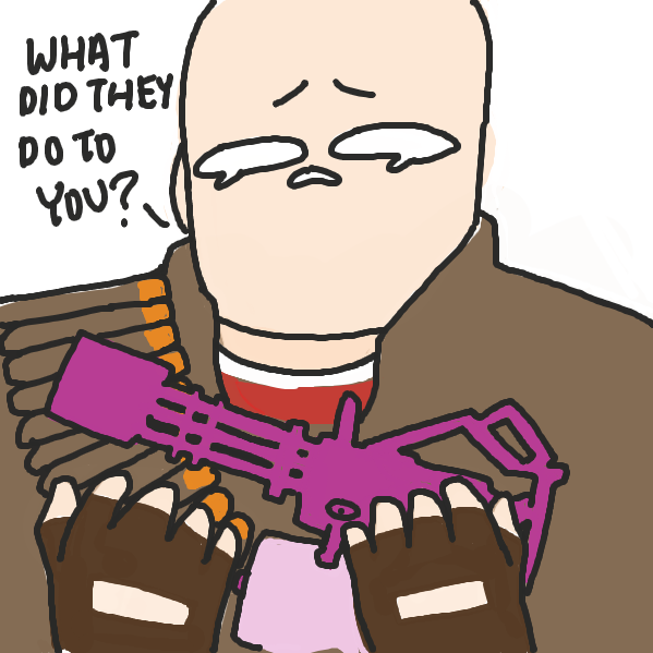 the gun is sasha reeeeeeeeeeeee - Online Drawing Game Comic Strip Panel by ironically horny