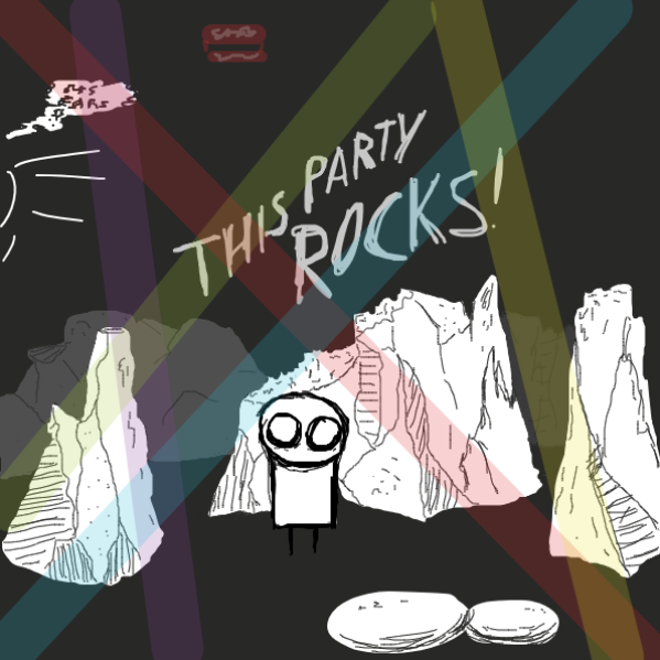 idk if they look like rocks - Online Drawing Game Comic Strip Panel by Robro