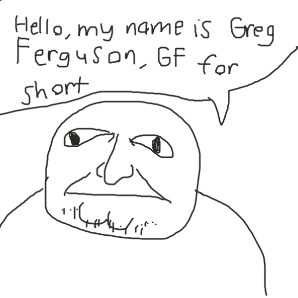 Some guy named Greg Ferguson - Online Drawing Game Comic Strip Panel by Uugh
