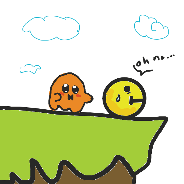 evil ghost found Birb - Online Drawing Game Comic Strip Panel by @valecocoj