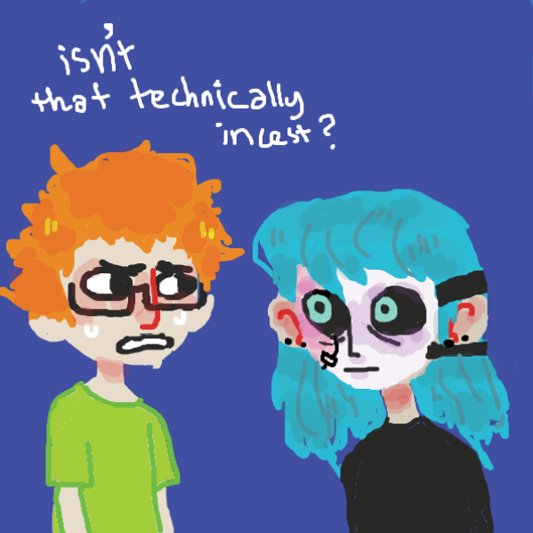 bruh thats incest - Online Drawing Game Comic Strip Panel by lemmonbars
