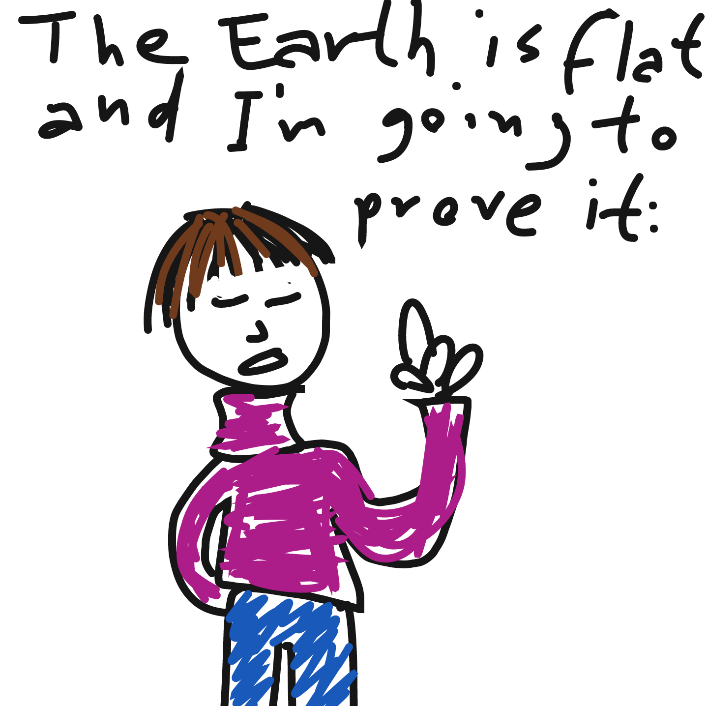 Drawing in Flat Earth by Nordic Hamfist