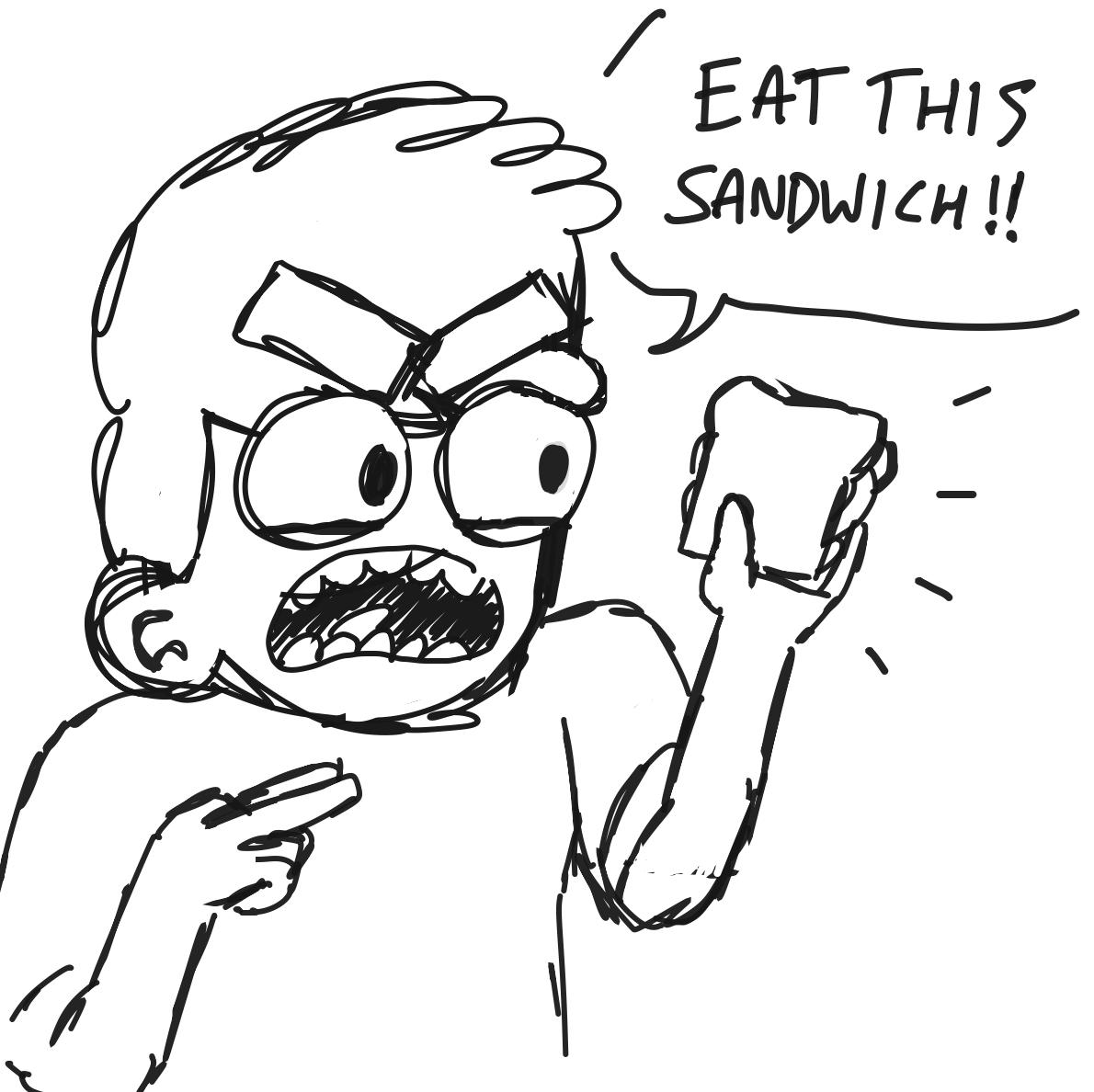 Drawing in Eat this sandwich by bebblett