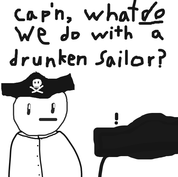 Drawing in Heard this weeks theme is pirates, eh? by Beepadoobop