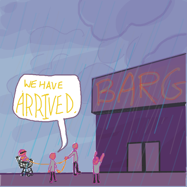 What could be in store...? - Online Drawing Game Comic Strip Panel by jamdaddy
