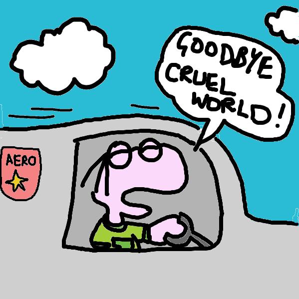 Drawing in Goodbye Cruel World! by tritbaumber