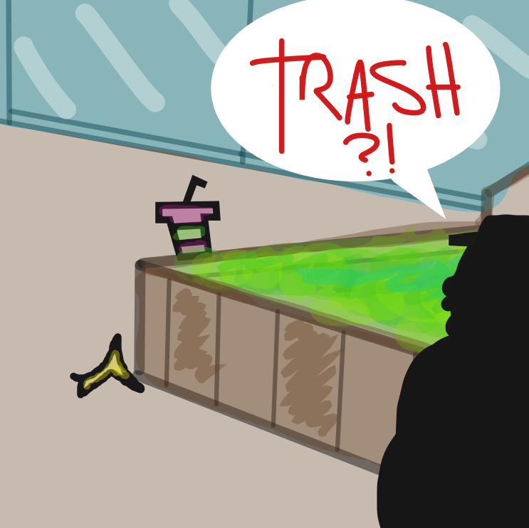 WHO DARES TO LEAVE TRASH IN THE REALM OF MALL-COP STEVENS??? - Online Drawing Game Comic Strip Panel by mr.marvelous