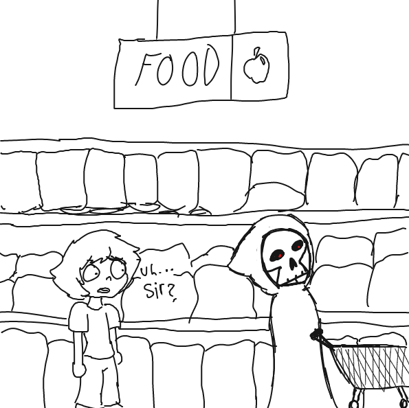 Liked webcomic Death goes to the store