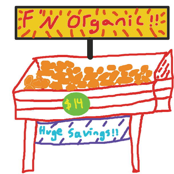Drawing in Twelve dollar mango by judge
