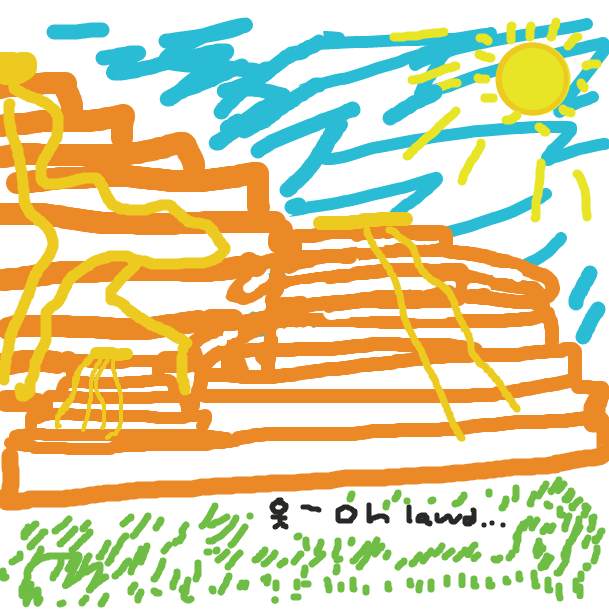 The promised land, a pancake heaven - Online Drawing Game Comic Strip Panel by judge