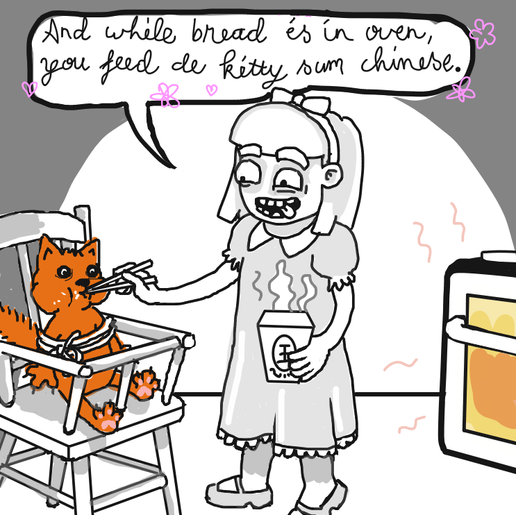 Just make sure the chinese doesen't have catmeat in it. - Online Drawing Game Comic Strip Panel by Delete