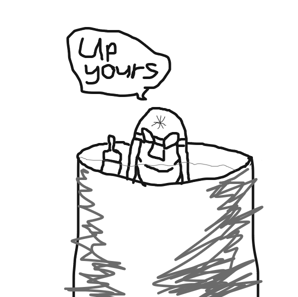 Stupid wordplay! - Online Drawing Game Comic Strip Panel by Meow the Fronk