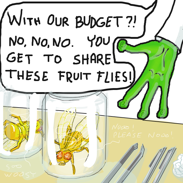 Humans too expensive.. and big.. - Online Drawing Game Comic Strip Panel