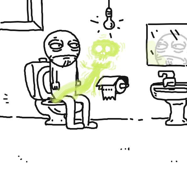 Drawing in Gerald on the toilet by PerroLaser
