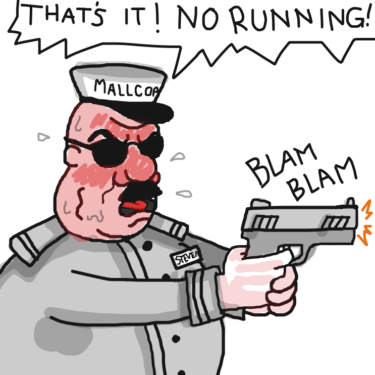 NO.RUNNING! - Online Drawing Game Comic Strip Panel by Delete