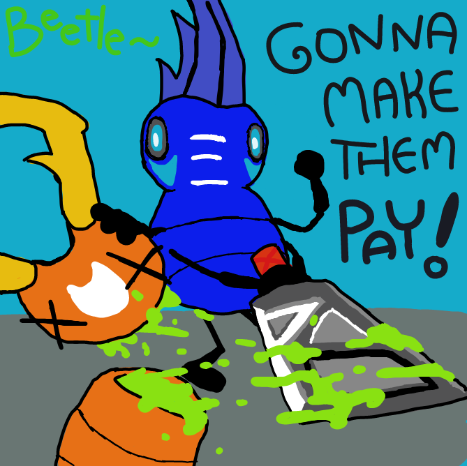 He Gonna Slay, He making them Pay~ - Online Drawing Game Comic Strip Panel